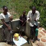 The Water Project: Shivagala Community, Paul Chengoli Spring -  Thumbs Up For Reliable Water