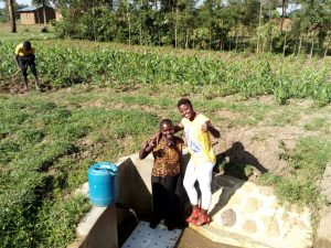 The Water Project:  Jentrine Nanzala With Field Officer Jemmimah Khasoha
