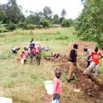 The Water Project: Mungaha B Community, Maria Spring -  Digging Drainage