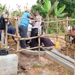 The Water Project: Alimugonza Community -  Pump Installation