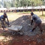 The Water Project: Viyalo Primary School -  Mixing Cement