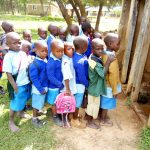 The Water Project: Shivanga Primary School -  Lined Up For Latrines