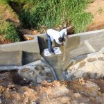The Water Project: Chegulo Community, Yeni Spring -  Spring Construction