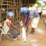 The Water Project: Tintafor Community, Shyllon Street -  Preparing The Screen