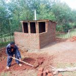 The Water Project: Kwirenyi Secondary School -  Latrine Construction