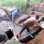 The Water Project: Muyundi Community, Baraza Spring -  Spring Construction