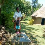 The Water Project: Muyundi Community, Baraza Spring -  Sanitation Platform