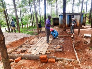 The Water Project:  Preparing A Latrine Foundation