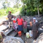 The Water Project: Muyundi Community, Baraza Spring -  Flowing Water