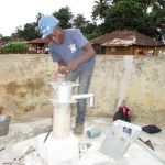 The Water Project: Tintafor Community, Shyllon Street -  Pump Installation