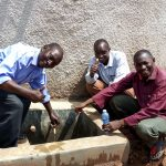 The Water Project: Gemeni Salvation Primary School -  Flowing Water