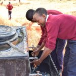 The Water Project: Ndoo Secondary School -  Handwashing Stations