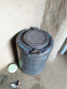 The Water Project:  A Water Storage Barrel