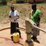 The Water Project: Eshitowa Community -  Razia Sumba And Gladys Were At Their Well