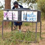 The Water Project: Kyanzasu Secondary School -  Handwashing Stations Are Still Being Used