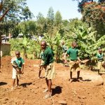 The Water Project: Muyere Primary School -  Clearing The Ground For A Tank Foundation