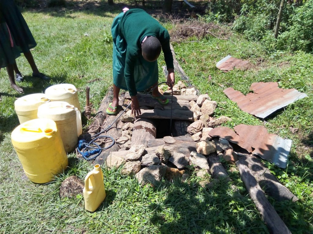The Water Project : 7-kenya18079-fetching-water