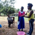 The Water Project: Isembe Community, Amwayi Spring -  Handwashing Training