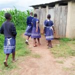 The Water Project: Shikusa Primary School -  Girls Latrines