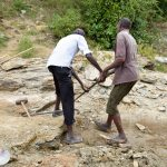 The Water Project: Kivani Community C -  Harvesting More Stone