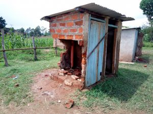 The Water Project:  Broken Down Latrine