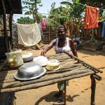 The Water Project: Tintafor Community, Shyllon Street -  A Lady With Her New Dish Rack