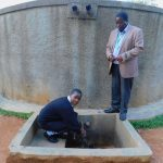 The Water Project: Bumira Secondary School -  Elizabeth Koome And Principal Rocken Ilahalwa
