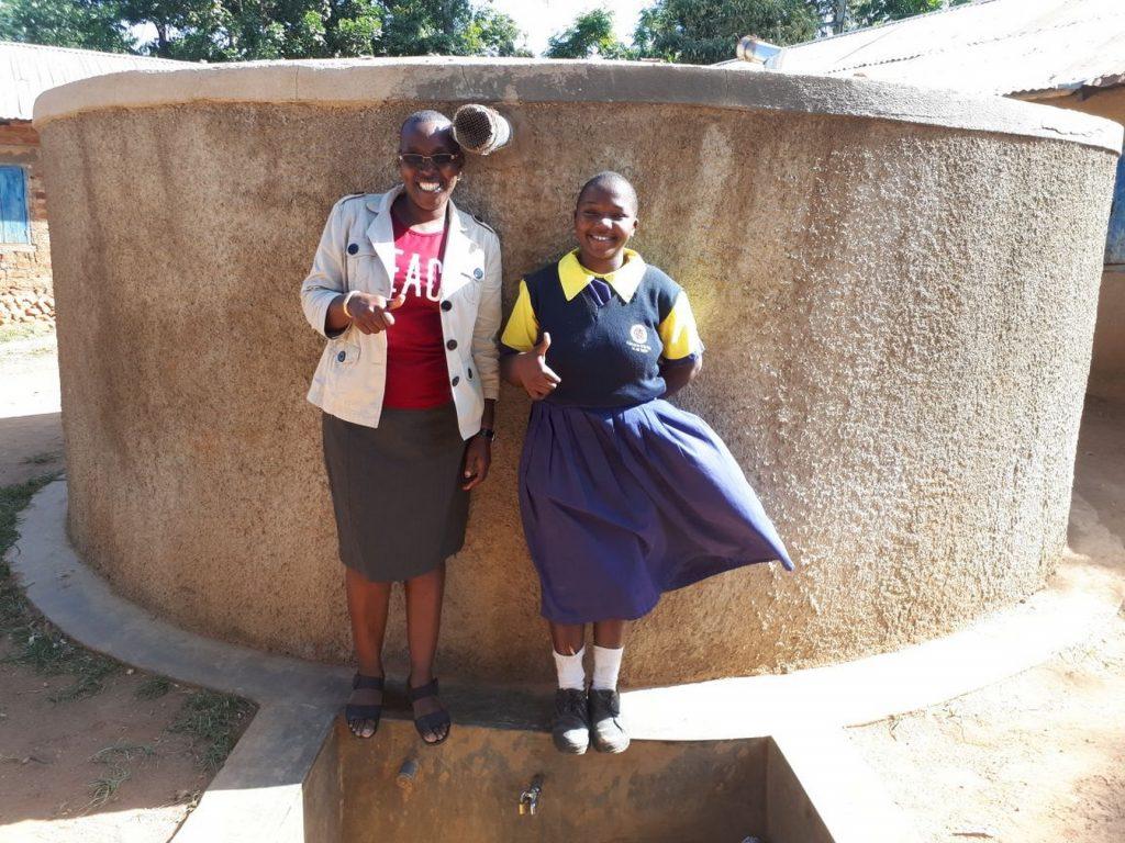 The Water Project : kenya4656-field-officer-janet-kayi-and-juliana-nekesa