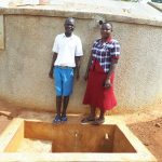 The Water Project: Mwiyenga Primary School -  Protus Musonye And Field Officer Betty Muhango