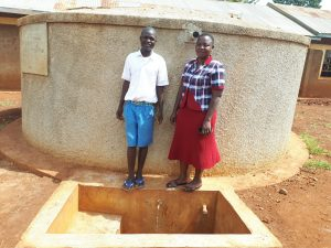 The Water Project:  Protus Musonye And Field Officer Betty Muhango