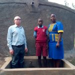 The Water Project: Emulakha Primary School -  Deputy Head Teacher Cornel Kiliswa Makokha Augustine Murunga And Field Officer Betty Muhango
