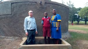 The Water Project:  Deputy Head Teacher Cornel Kiliswa Makokha Augustine Murunga And Field Officer Betty Muhango