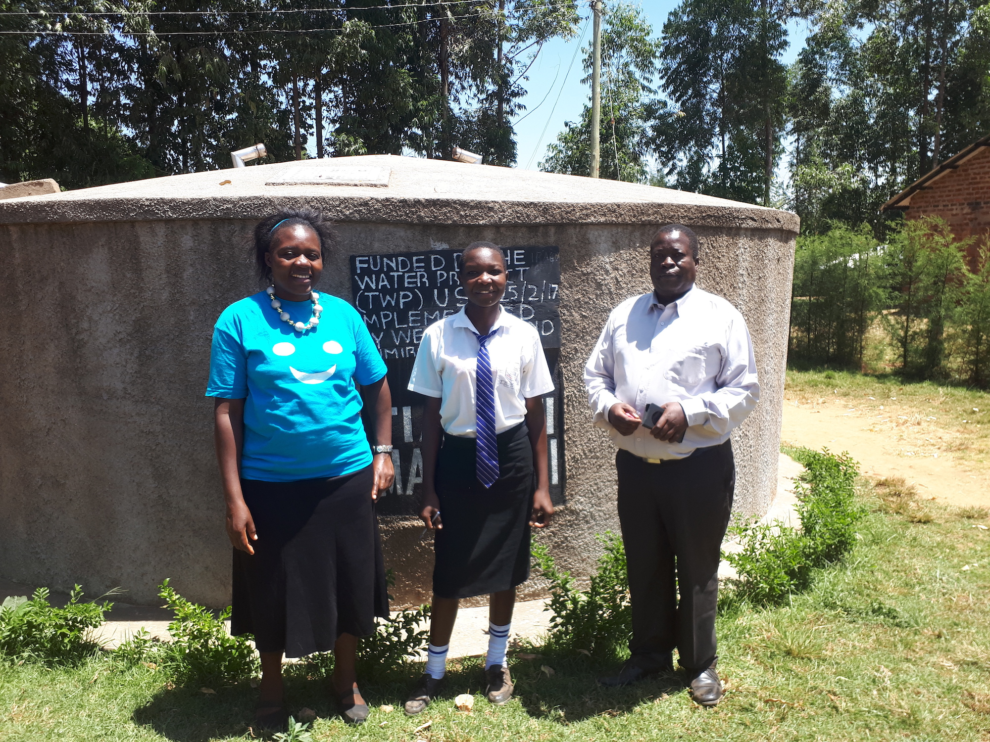 The Water Project : kenya4679-field-officer-mary-afandi-florence-ongola-and-isa-matala