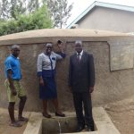 The Water Project: Malaha Primary School -  Kevin Lutomia Field Officer Mary Afandi And Headteacher Dominic Barasa