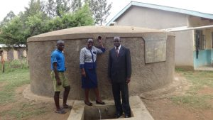 The Water Project:  Kevin Lutomia Field Officer Mary Afandi And Headteacher Dominic Barasa