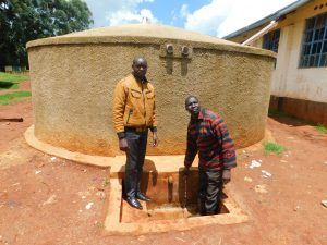 The Water Project:  Field Officer Wilson Kipchoge And Teacher Isaac Metto