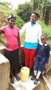 The Water Project:  Betty Nambiro Field Officer Jemmimah Khasoha And Emily Amwai