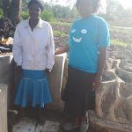 The Water Project: Mwiyala Community, Benard Spring -  Metrine Shilako And Field Officer Karen Maruti