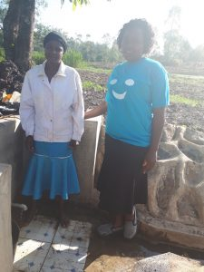 The Water Project:  Metrine Shilako And Field Officer Karen Maruti