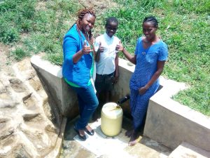 The Water Project:  Thumbs Up From Field Officer Jacklyne Chelagat Fidelis Shanguya And Agnes Esendi