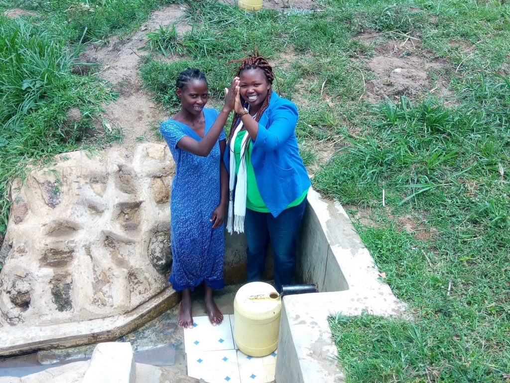 The Water Project : kenya4736-high-fives-with-agnes-esendi