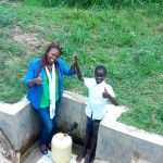 The Water Project: Lutali Community, Lukoye Spring -  High Fives With Fidelis Shanguya