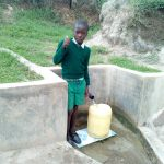 The Water Project: Mukhuyu Community, Shikhanga Spring -  Brighton Liruma