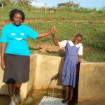 The Water Project: Ematiha Community -  High Fives For Field Officer Karen Maruti And Mercy Amonyole
