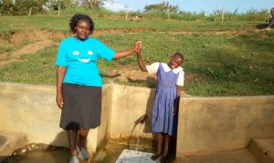The Water Project:  High Fives For Field Officer Karen Maruti And Mercy Amonyole