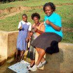 The Water Project: Ematiha Community -  Mercy Amonyole Velma Anjeche And Field Officer Karen Maruti