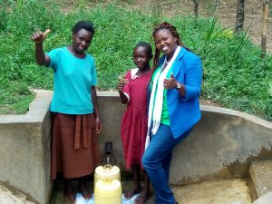 The Water Project:  Abigael Kasiti Pamela Atieno And Field Officer Jacklyne Chelagat