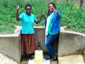 The Water Project:  Abigael Kasiti And Field Officer Jacklyne Chelagat