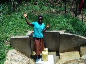 The Water Project:  Abigael Kasiti Fetching Water