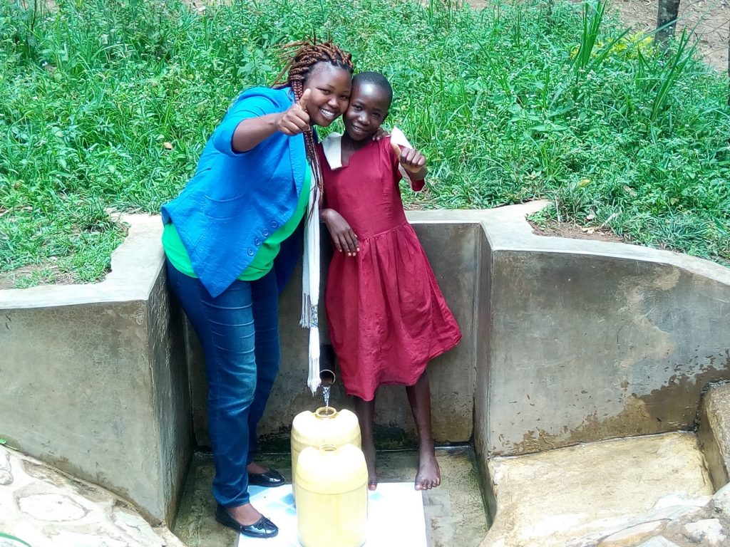 The Water Project : kenya4742-field-officer-jacklyne-chelagat-and-pamela-atieno